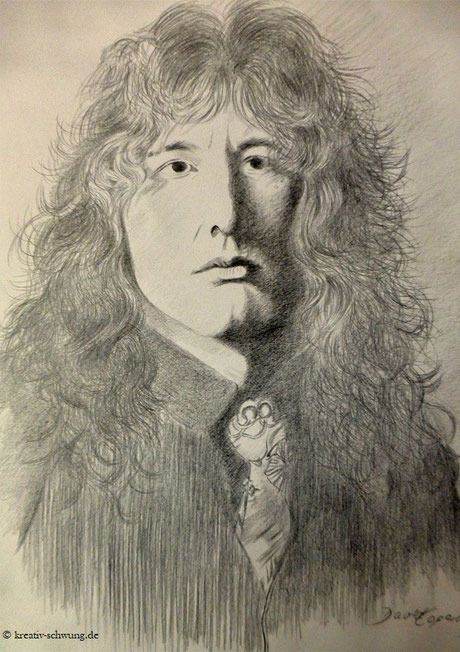 David Coverdale 1977, Bleistift 2019