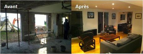 Travaux de rénovation sur une maison bretonne