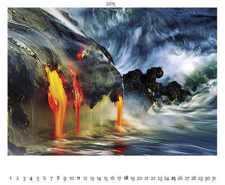 Kalenderblatt, Hawaii, Lava