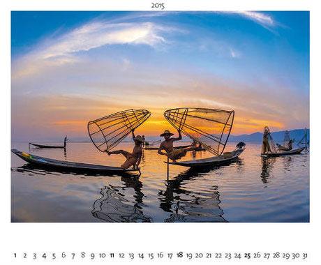 Kalenderblatt Myanmar, Fischer