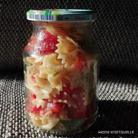 Essen im Glas, Mittagessen im Glas, no plastic, Plastikvermeidung, Plastikreduzierung, Kraftquelle