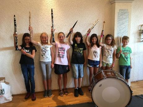 von links nach rechts: Klee Christin, Würflinger Marlene, Hemetsberger Anna, Leon Vorauer, Marlies Stadler, Simone, Patrick Stockinger