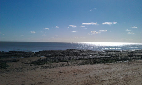 The beach at Broadstairs, the perfect spot for some healthful qigong practise