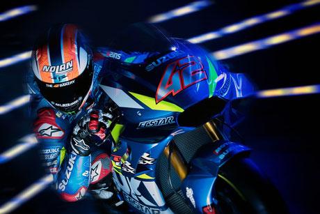 Alex Rins 2019 in der MotoGP für Suzuki.
