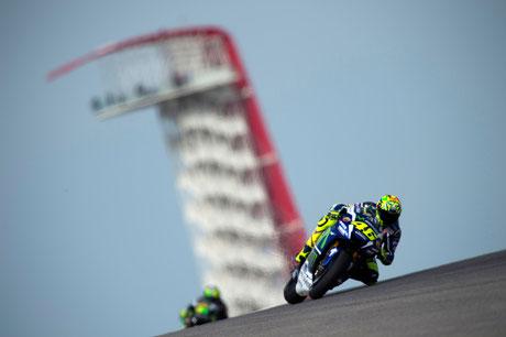 Valentino Rossi beim MotoGP Rennen 2016 in Austin