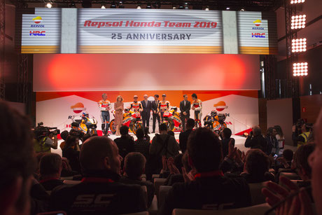 Präsentation des Repsol Honda Teams 2019 in Madrid