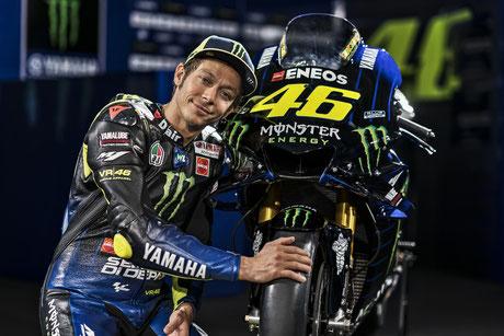 Valentino Rossi 2019 für das Monster Yamaha MotoGP Team