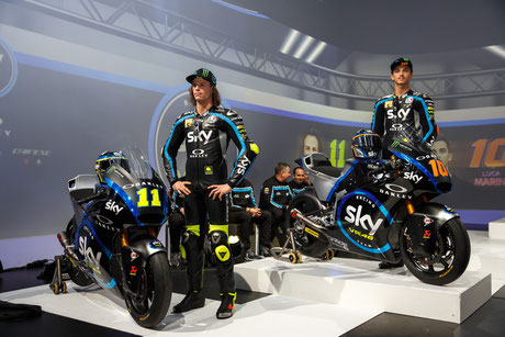 Nicolo Bulega und Luca Marini 2019 für das Sky Racing Team in der Moto2