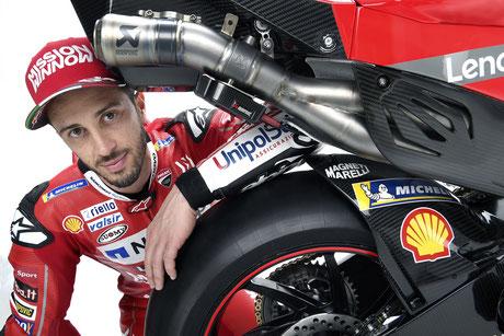 Andrea Dovizioso ein weiteres Jahr bei Ducati.