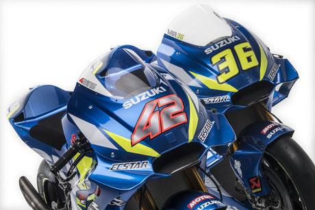 Suzuki Bikes von Alex Rins und Joan Mir 2019 in der MotoGP