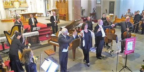 Marianne Haupt (Mezzosopran), Hubert Grunow (Tenor) mit dem TCO im Siegtaldom unter der Leitung von Betin Günes - Foto: Schmidt
