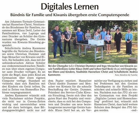 Straubinger Tagblatt vom 23.07.2020