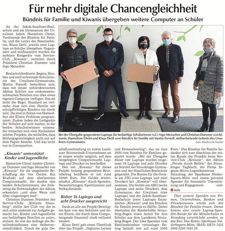 Straubinger Tagblatt vom 02.11.2020