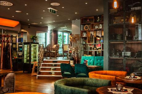 """Der neu gestaltete Gastraum des """"Cafe Leonardo©"""""""