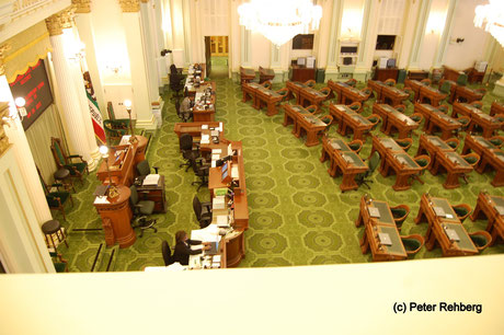 Repräsentantenhaus, Capitol, Sacramento, Peter Rehberg