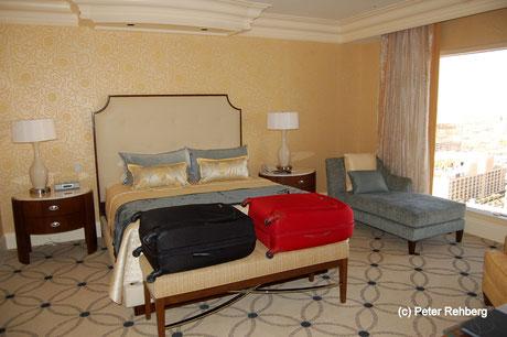 Schlafzimmer, Siute, Bellagio, Las Vegas, Peter Rehberg