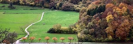Unser Wanderweg im Tal der Sauer zwischen Echternach und Steinheim