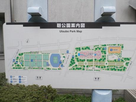 靭公園(200m) 地図