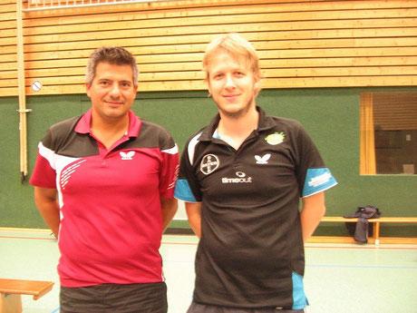 links: Kreismeister Dinesh Rao / rechts: Vizemeister Andreas Langehaneberg