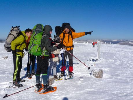 activités pour jeunes en difficulté - séjours de rupture - randonnée hivernale