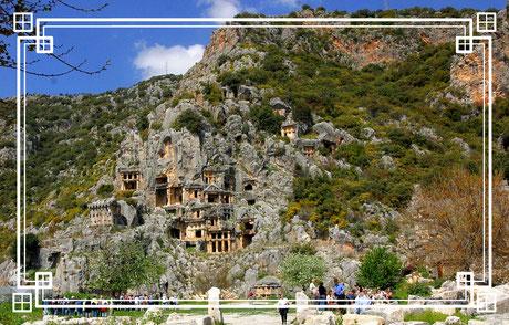 Myra, das heutige Demre ist eine antike Stadt in Lykien-Türkei.