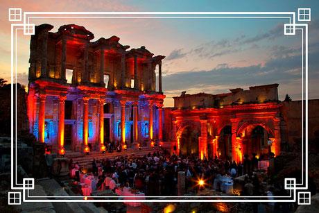 Celsus Bibliothek Ephesus private Abendgala Türkei