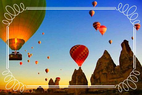 Ballonfahrt früh mit Sonnenaufgang Kappadokien