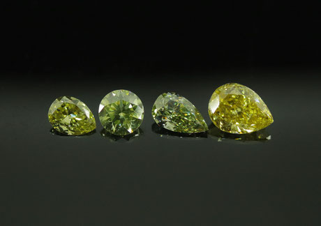 Fancy chameleon diamonds