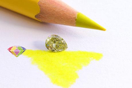 Chamäleon Diamanten wechseln ihre Farbe bei Lichtveränderung oder Hitze. Das macht sie selten und sehr begehrt.
