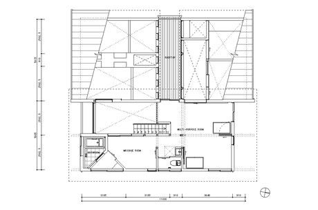 うちかど助産院2階平面図
