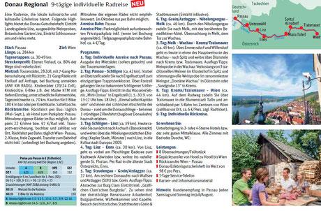 Donau Radreisen bei singer Reisen & versicherungen preiswert buchen.