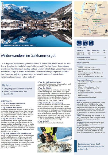 Winterwandern in Österreich Salzkammergut Gruppenreisen geführt..