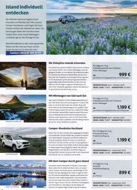 Island Mietwagenrundreisen bei Singer Reisen & Versicherungen preiswert buchen