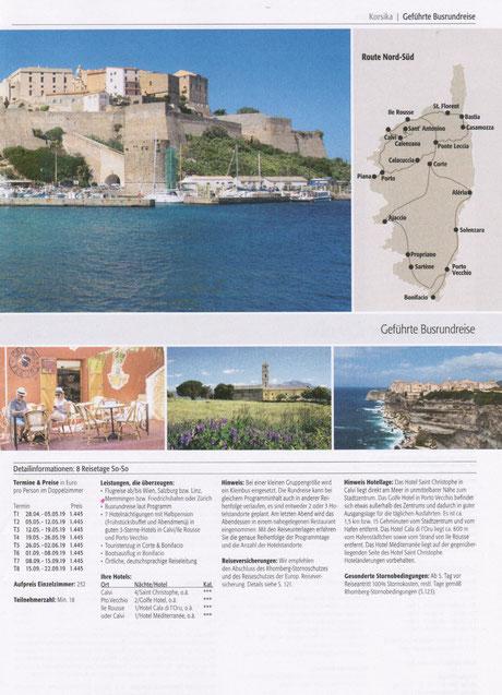Busrundreisen auf Korsika - GrandTour de Corse -