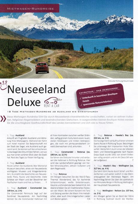 Neuseeland Drive & Aktiv Reisen bei Singer Reisen und Versicherungen buchen...