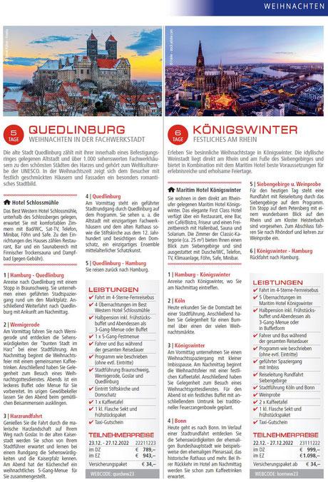 Busreisen Böhmische Weihnacht  in Pilsen und Prag genissen...
