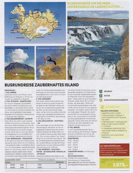 Island Busrundreisen jetzt bei Singer Reisen & Versicherungen preisgünstig buchen...