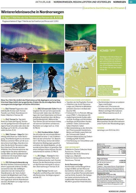 Nord-Norwegen-Tromsö und Winterlandschaften genießen...