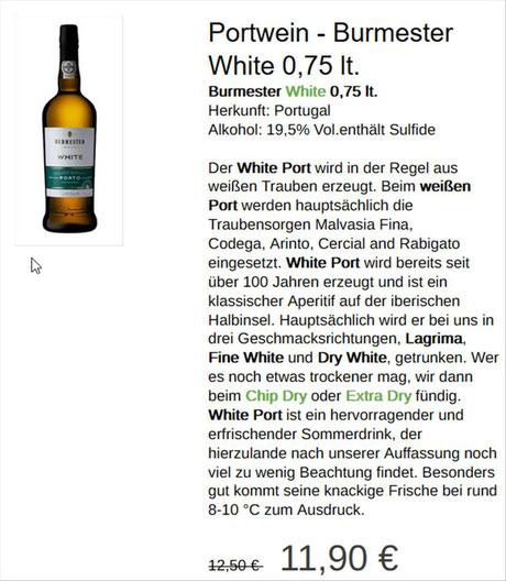 Portweine bei Ihr shop und meer - Helmut Singer kaufen...