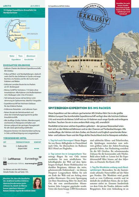 Expeditionen Ortelius bei Singer Reisen & Versicherungen buchen