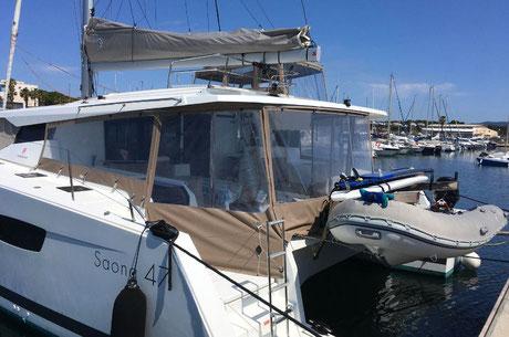 pose entretien equipements confort et protection bateau var