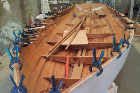 reparation coque bateau, reparer coque en bois voilier var 83