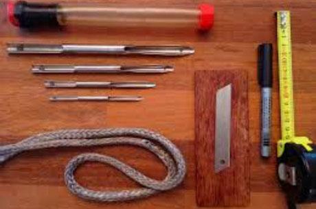 outils confection cordage var, frapper pièce accastillage, finition écoutes bateau
