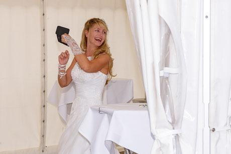 spontanes Foto von der Braut