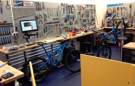 Santa Cruz workshop Stirling Bike Doctor