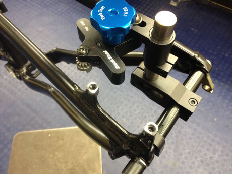 Disc brake mount facing Stirling Bike Doctor