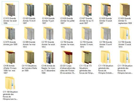 Archives Pénichon, SHDT, sous-séries C2, C4, C11.