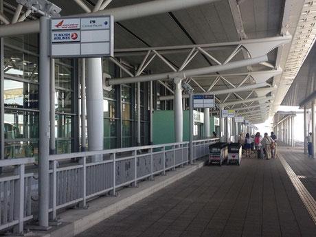 難なく関空に到着。ピーチは第二ターミナルから出ているそうな