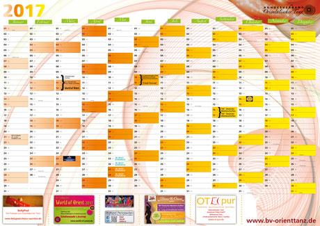 Ein Jahresplaner Wand / Kalender 2017 als Beilage