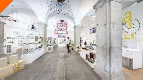 Fotomontaje 3D interior. Propuesta para el Ayuntamiento de Madrid.